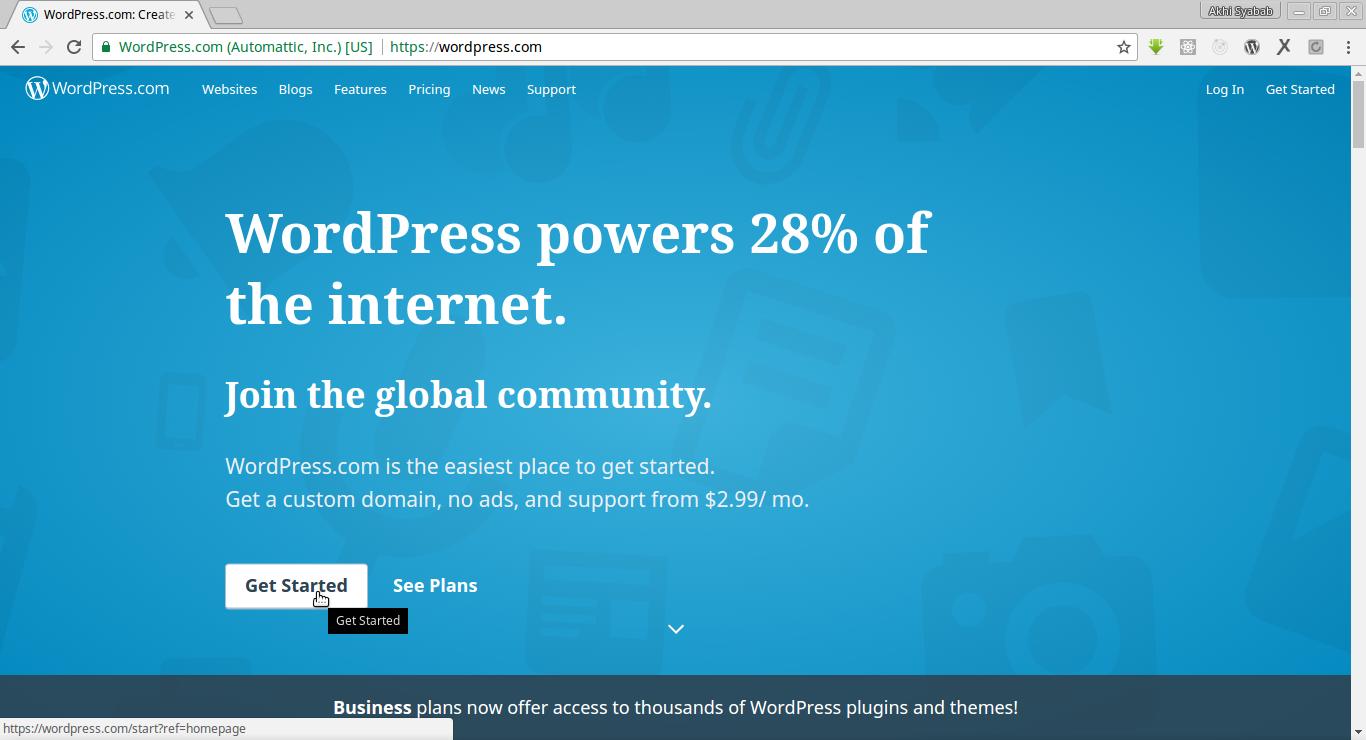 cara membuat blog website wordpress 1