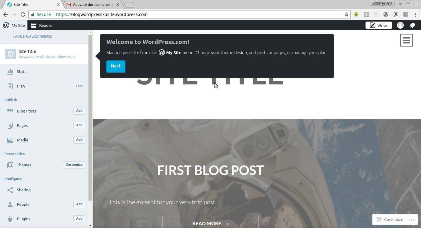 cara membuat blog website wordpress