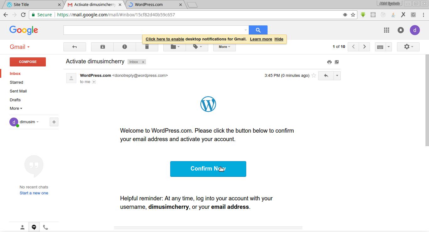 cara membuat blog website wordpress