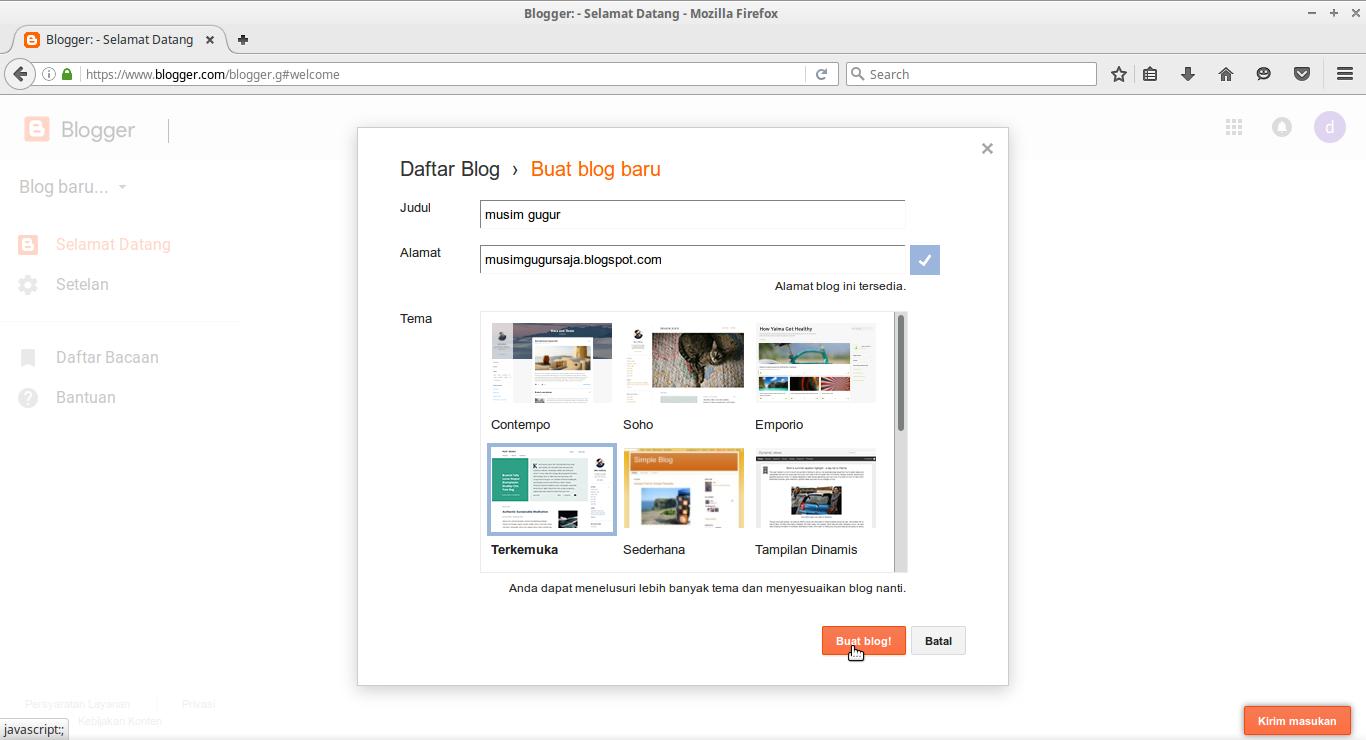 cara buat blog blogger 8