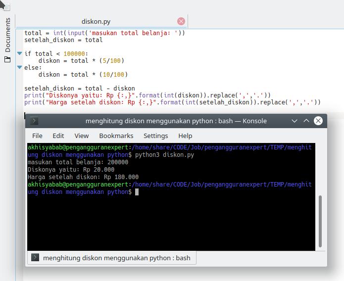 Program diskon menggunakan python - 2