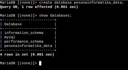 Cara Install MariaDB Linux gak ribet - pesonainformatika.com