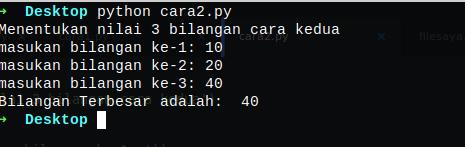 Menentukan Nilai Maksimum Bilangan Python - pesonainformatika.com