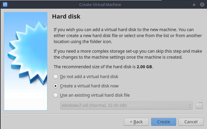 hardisk virtualbox