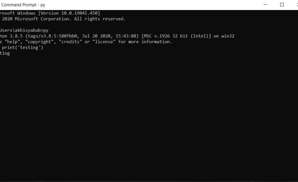 cara menggunakan dan menjalankan python di cmd windows