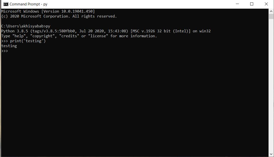 cara menggunakan dan menjalankan python di cmd windows - 6