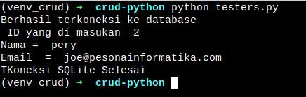 Membuat CRUD Menggunakan Python - pesonainformatika.com