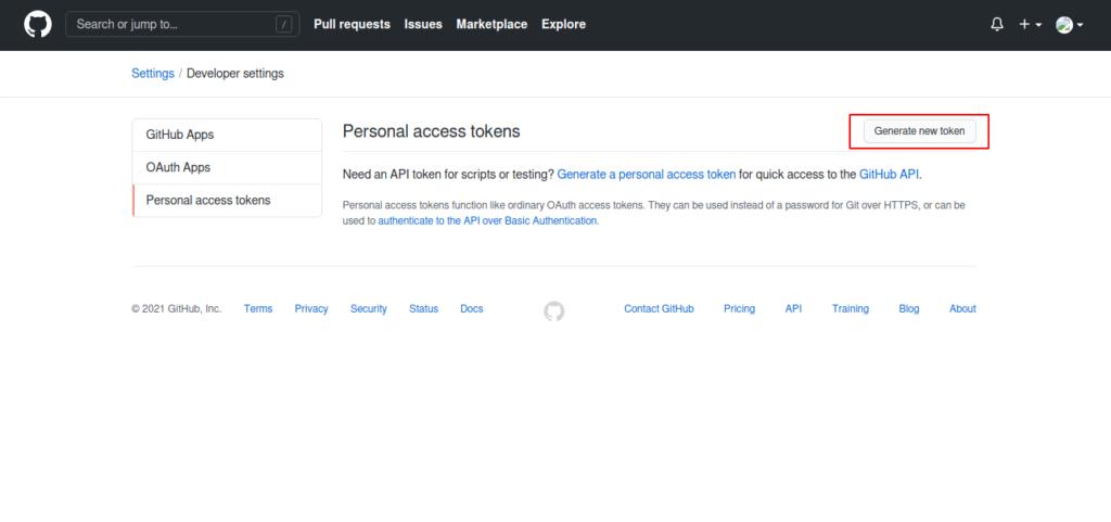 Setup Personal Access Token - pesonainformatika